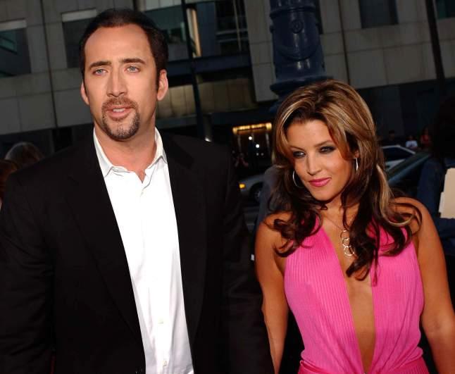 Nic Cage and Lisa Marie Presley