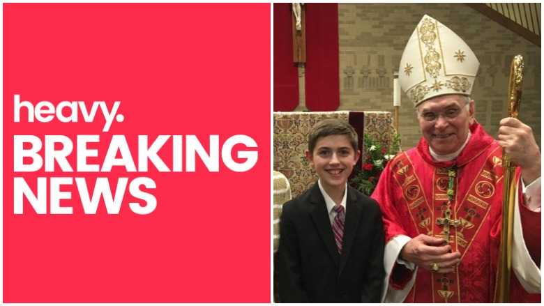 Nick Sandmann and Covington Diocese Bishop Roger Foys