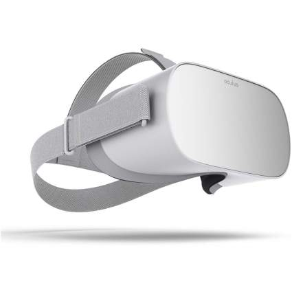 Silver oculus VR headset