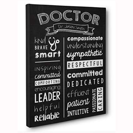 personalized doctor canvas art print