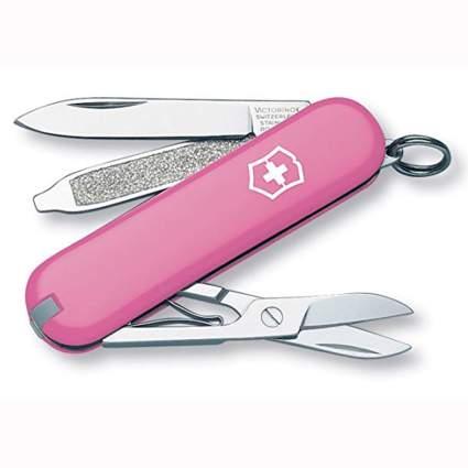 pink swiss army pocket knife