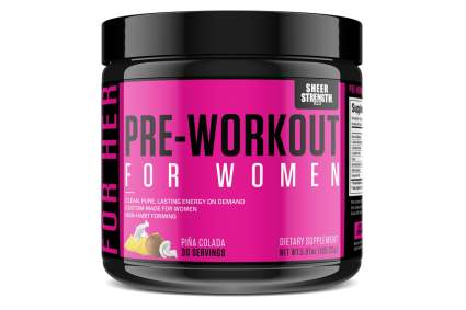 pre workout for women sheer strength labs