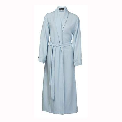 baby blue cashmere bathrobe