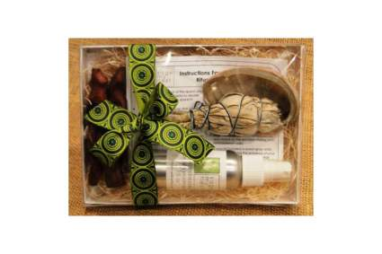 Box set of sage cleansing items