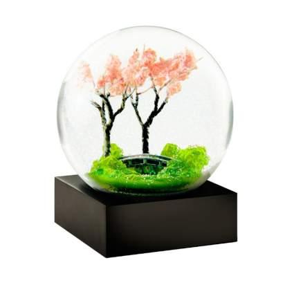 sakura snow globe