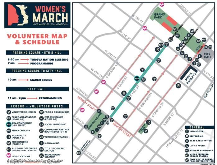 Womens March LA Map