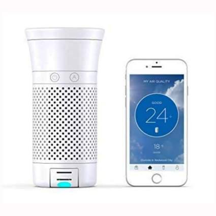 white smart portable air purifier