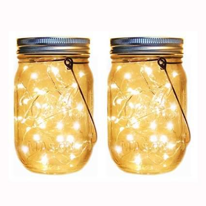 solar mason jar lanterns