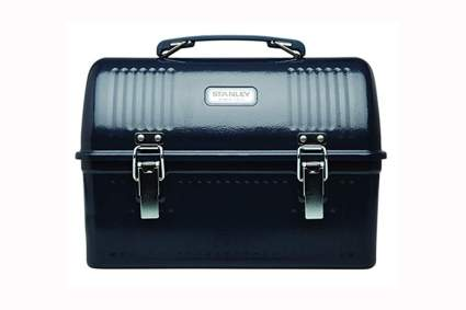 Stanley black metal lunch box
