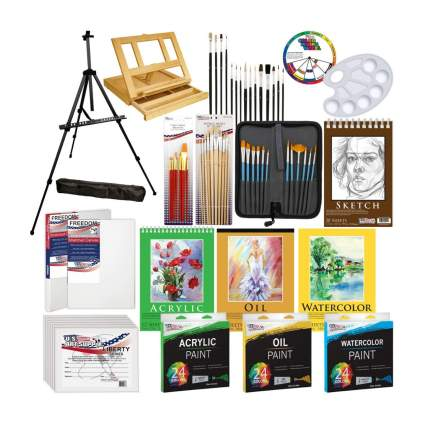 US Art Supply 133 piece kit gifts for grandpa
