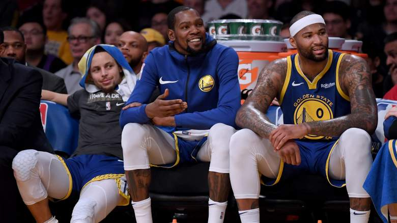 Stephen Curry, Kevin Durant, DeMarcus Cousins
