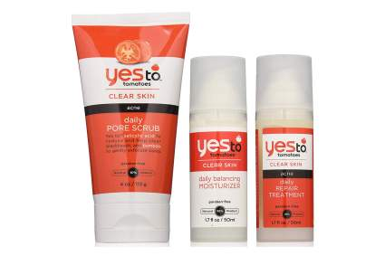 Yes to Tomatoes skin care bottles