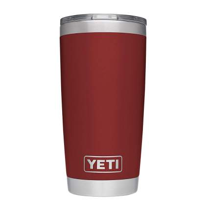 Red Yeti tumbler travel mug