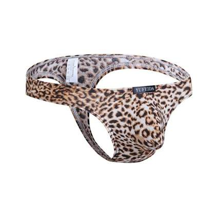 Yufeida leopard print thong gag gifts for men