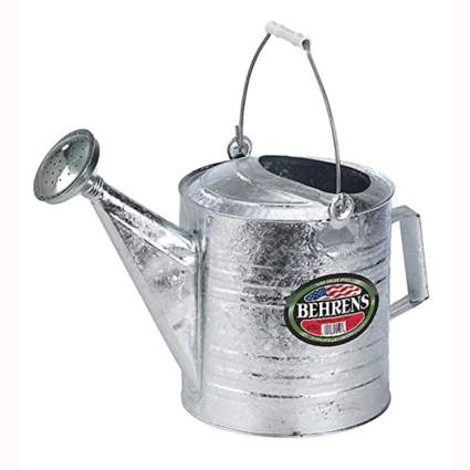 2 gallon galvanized steel watering can