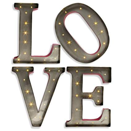 "15"" - Metal - LED - Lighted ""LOVE"" Letters"