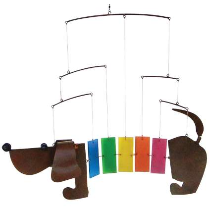 Dachshund Wind Chime, Dachshund Wiener Dog Mobile Windchime