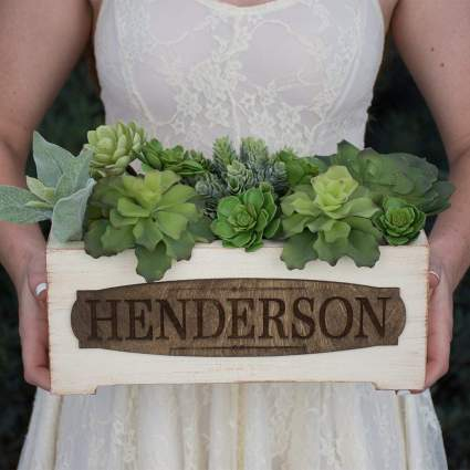 personalized planter