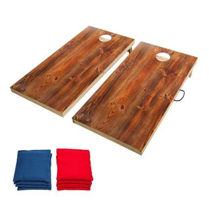 wood cornhole set