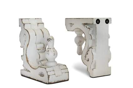 Urban Legacy White Bookends or Sconces