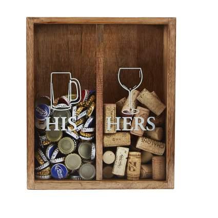 Mud Pie His/Her Cork Display Box