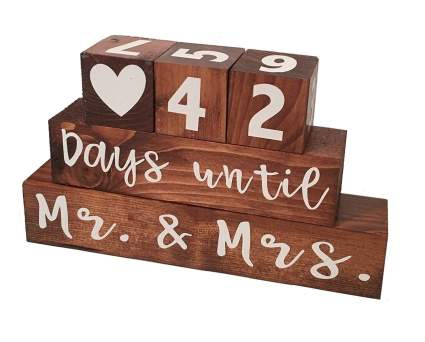 wedding countdown blocks