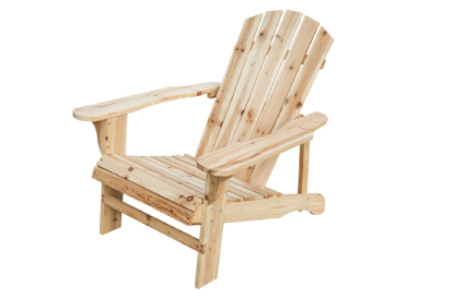 Outdoor Natural Wood Adirondack Folding Classic Chair for Patio