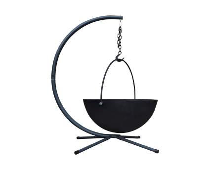 Titan 42 Inch Cauldron Fire Pit Bowl with Stand