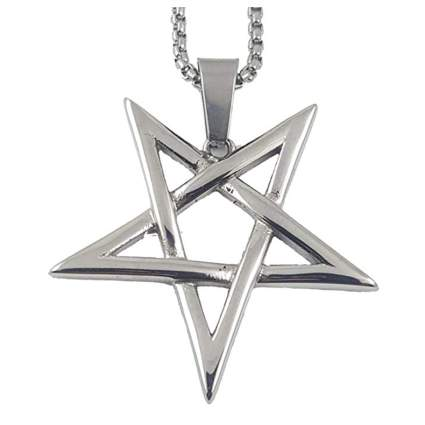 Upside-down pentacle charm