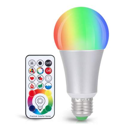 rainbow lightbulb with remote