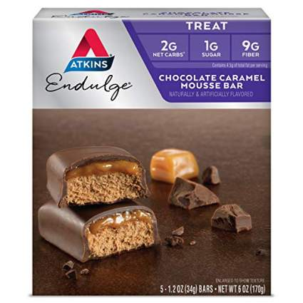 atkins endulge chocolate caramel mousse bars