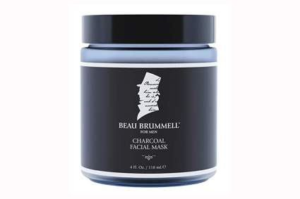 charcoal and clay face mask for men