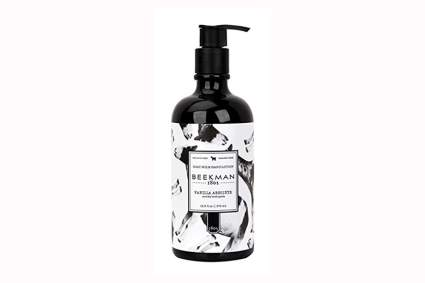 vanilla and sandalwood goat milk hand lotion