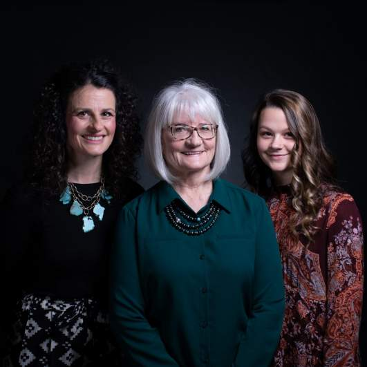 Debra Bissell, Heather Armstrong, and Madison Armstrong