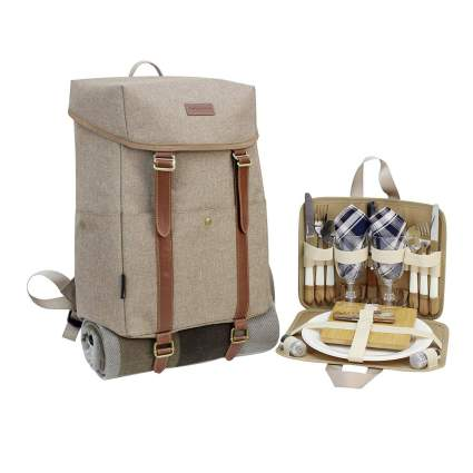 California Picnic backpack for two romantic gifts for him