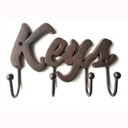 wall mounted cast iron key holder