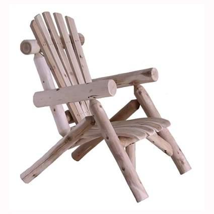 cedar log lounge chair