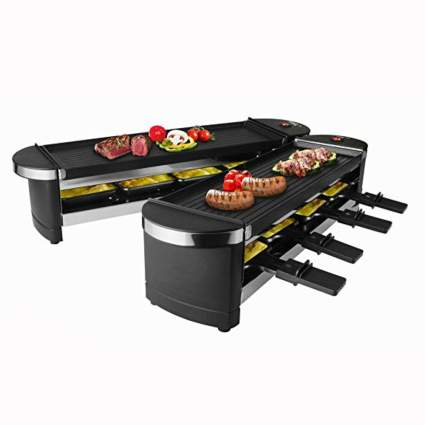 dual raclette tabletop grill