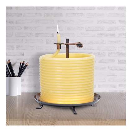eco-friendly beeswax candle