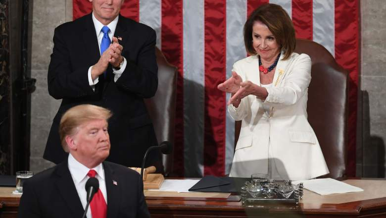 Pelosi during Trump's SOTU