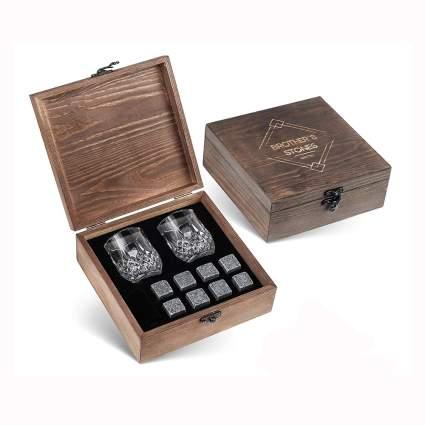 granite whiskey stones boxed gift set