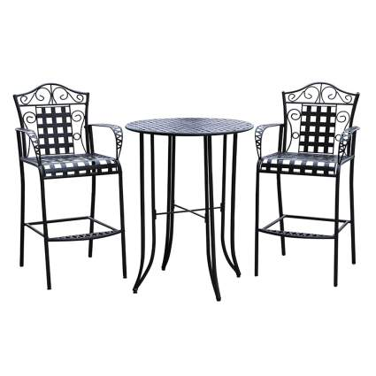 iron bar height bistro set