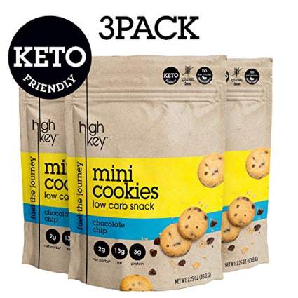 Keto Mini Cookies – Chocolate Chip, Pack of 3