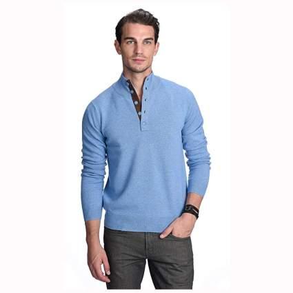 light b lue men's pure cashmere sweater