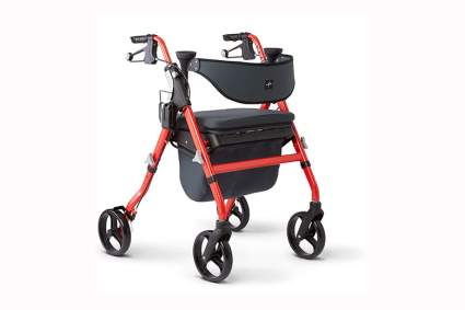 red extra wide heavy duty walker