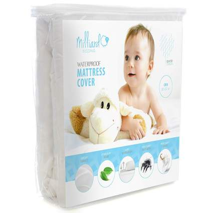 MILLIARD Quilted, Waterproof Crib & Toddler Mattress Protector Pad