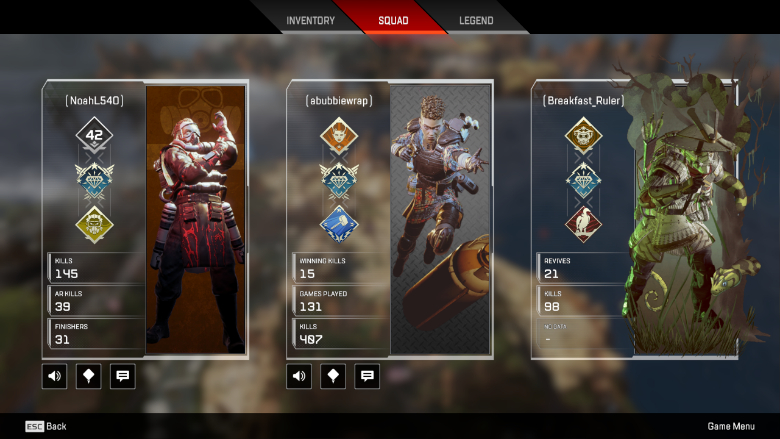 Mute Players Apex Legends