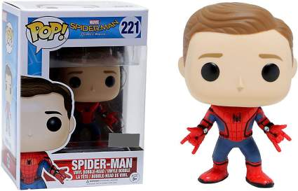 new suit unmasked spider-man funko pop