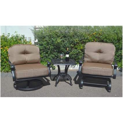 padded rocker bistro set