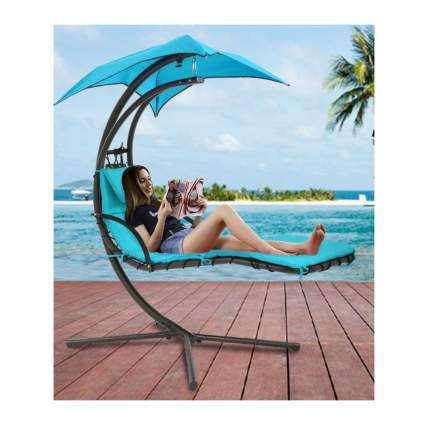 patio hammock chair with sun shade